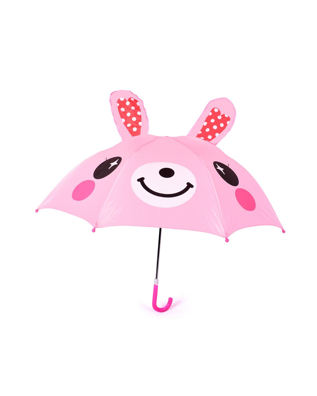 Sombrilla De Conejo Para Lluvia Kids  1012 Rosa